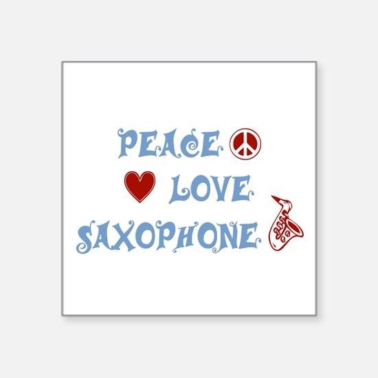 "Saxophone Square Sticker 3"" x 3"""