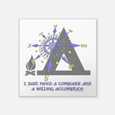 compass and willing accomplice-1-CAMPING Sticker