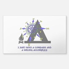 compass and willing accomplice-1-CAMPING Decal