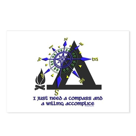 compass and willing accomplice-1-CAMPING Postcards