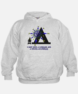 compass and willing accomplice-1-CAMPING Hoodie