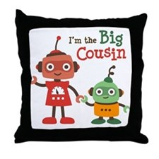 Big Cousin - Robot Throw Pillow