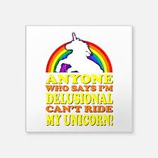 Funny Unicorn (vintage distressed) Square Sticker