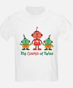 Big Cousin of Twins - Robot T-Shirt