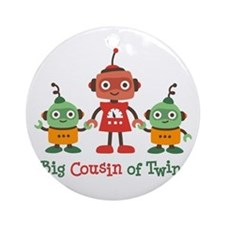 Big Cousin of Twins - Robot Ornament (Round)