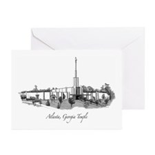 Atlanta, Georgia Temple Greeting Cards (Package of