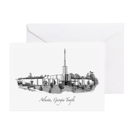 Atlanta, Georgia Temple Greeting Cards (Package of
