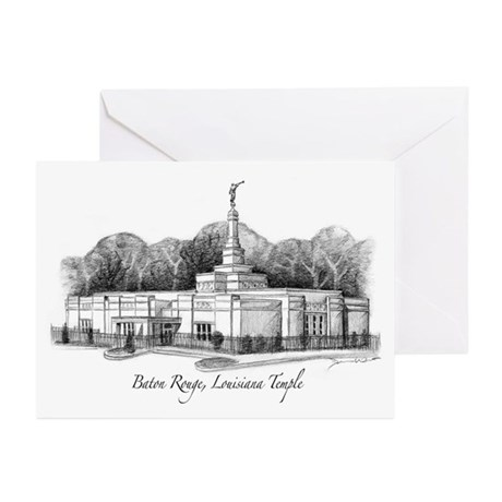 Baton Rouge, Louisiana Temple Greeting Cards (Pack