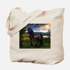 Freisian Horse Tote Bag