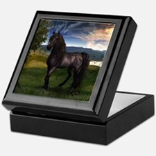 Freisian Horse Keepsake Box