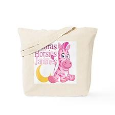 Pink Zebra in Jammies Tote Bag