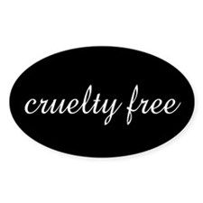 cruelty free Oval Decal