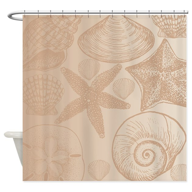 Peach shells Shower Curtain by be inspired by life