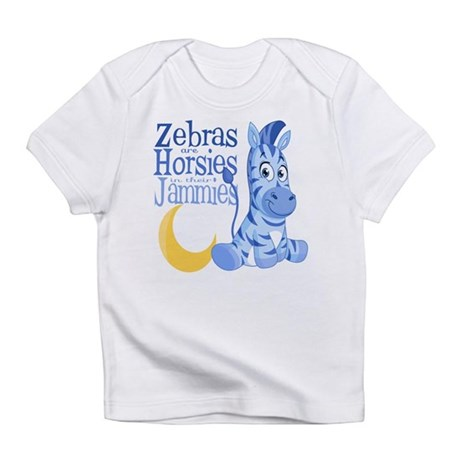 Blue Zebras in Jammies Infant T-Shirt