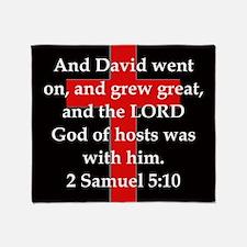 2 Samuel 5:10 Throw Blanket
