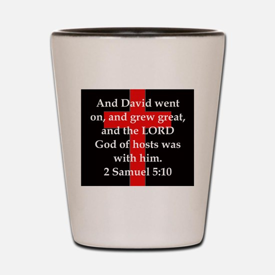 2 Samuel 5:10 Shot Glass