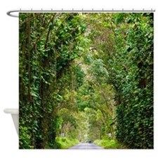 Kauai Tree Tunnel Hawaii Tropical Shower Curtain