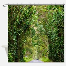 Kauai Tree Tunnel Hawaii Tropical Shower Curtain