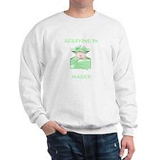 ARRIVING IN MARCH BABY LIGHT SKIN GREEN Sweatshirt