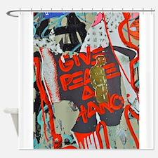 New York Graffiti: Give Peace a Chance Shower Curt
