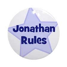 Jonathan Rules Ornament (Round)