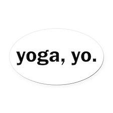 Yoga, Yo Oval Car Magnet