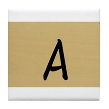 A, Your name in Japanese Katakana system Tile Coas