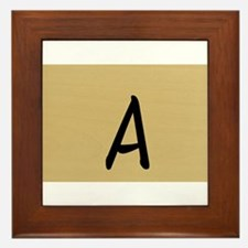 A, Your name in Japanese Katakana system Framed Ti