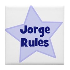 Jorge Rules Tile Coaster