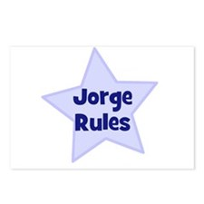 Jorge Rules Postcards (Package of 8)