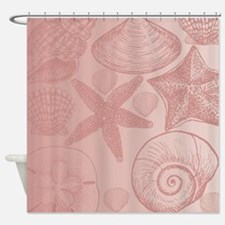 Pink shells Shower Curtain