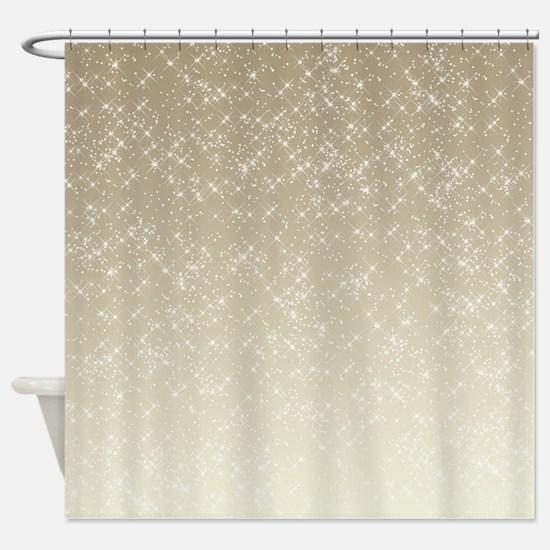 Cream Sparkles Shower Curtain