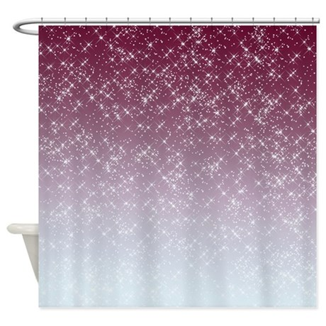 sparkling pink shower curtain