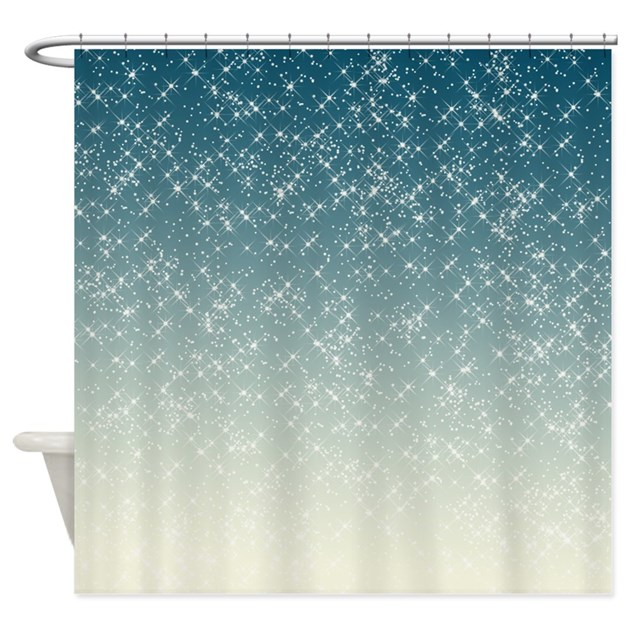Teal Sparkles Shower Curtain By Be Inspired By Life