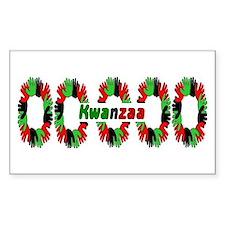 Kwanzaa Rectangle Decal