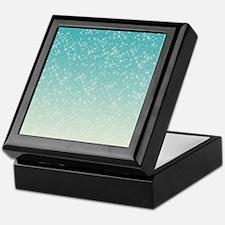 Sparkling Aqua Sea Keepsake Box