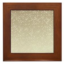 Cream Sparkles Framed Tile