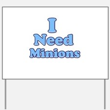 I need Minions retro blue 1 Yard Sign