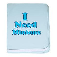I need Minions retro blue 1 baby blanket