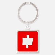 Red Puzzle Piece Autism Awareness Keychains