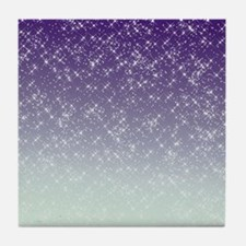 Sparkling Purple Tile Coaster