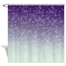 Sparkling Purple Shower Curtain