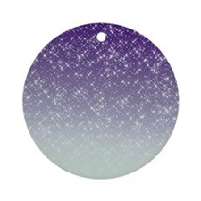 Sparkling Purple Ornament (Round)