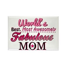 Fabulous Mom Rectangle Magnet