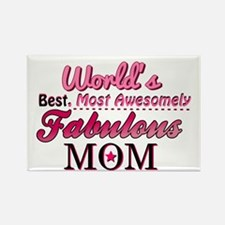 Fabulous Mom Rectangle Magnet