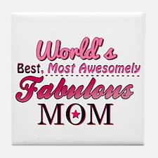 Fabulous Mom Tile Coaster