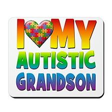 I Love My Autistic Grandson Mousepad