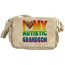 I Love My Autistic Grandson Messenger Bag