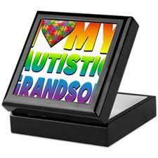 I Love My Autistic Grandson Keepsake Box