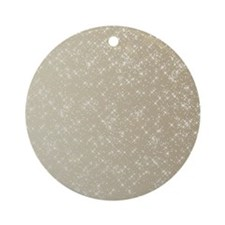 Sparkling Gold and White Ornament (Round)